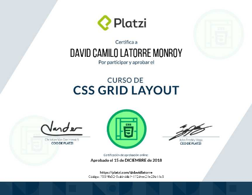 CSS gridCertification