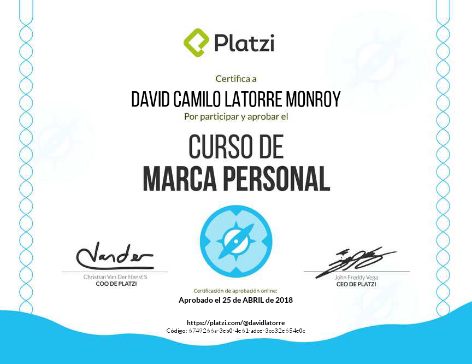 Marca Personal Certifications