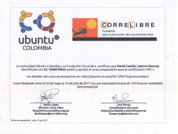 Linux Ubuntu Colombia Certifications